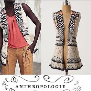 Anthropologie Sleeveless Cardigan